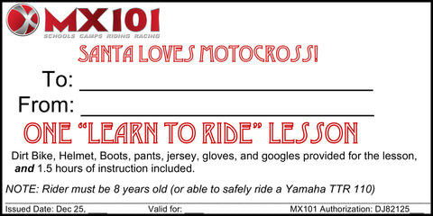 Learn To Ride Lesson ---- Group Lesson (2 People)