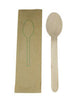 "6"" Disposable Eco-Friendly Birch Paper Wrapped Spoon 100/pk"
