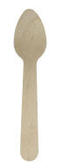 "4.3"" Disposable Birch Wood Small Tasting Spoon 100/pk"