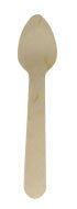 "3.5"" Disposable Birch Wood Mini Taster Appetizer Spoon 100/pk"