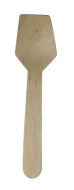 "3.5"" Disposable Birch Wood Mini Sample Catering Flat Spoon 100/pk"