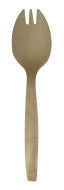 "5.5"" Disposable Birch Wood Spork 100 pk"