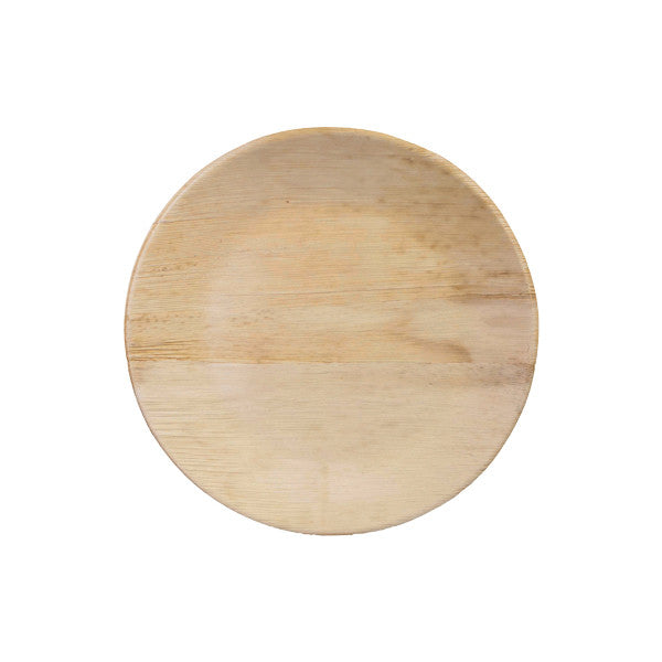 10.25in Round Bamboo Deep Plate 8/pk