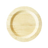 "11"" Round Bamboo Large Disposable Plate 8/pk"
