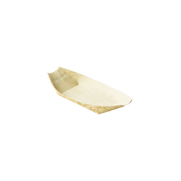 "8.5"" Disposable Bamboo Serving Boat 9 oz"