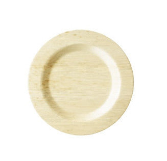 "6"" Round Disposable Bamboo Dessert Plate 8/pk"
