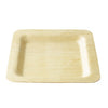 "6""  Square Bamboo Small Event Disposable Catering Plate 8/pk"