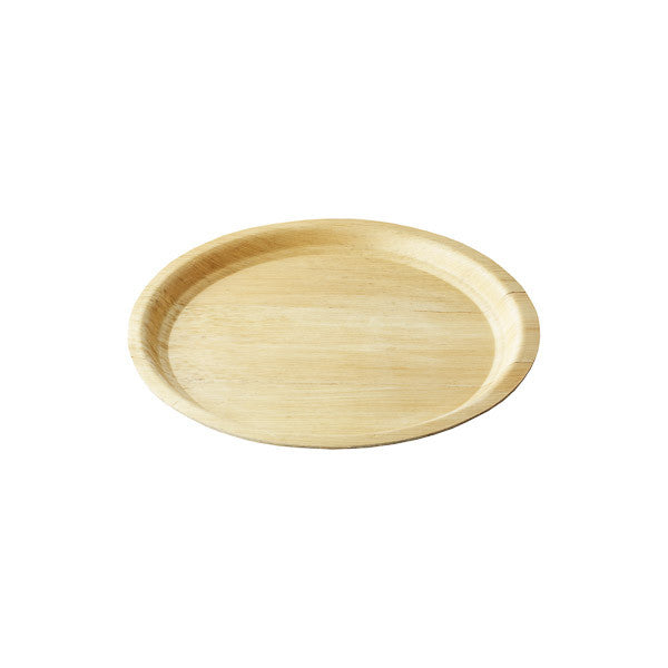 "13.25"" Round Bamboo Cocktail Tray 2/pk"