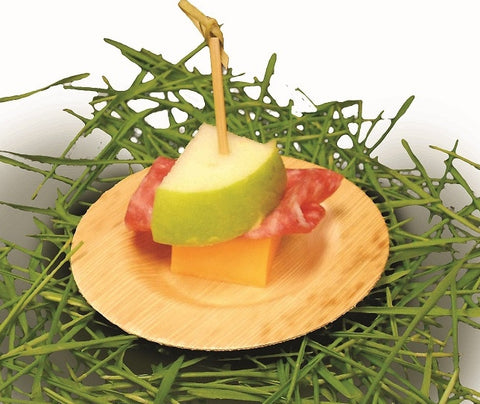 3.5in Round Bamboo Appetizer Small Plate 24/pk