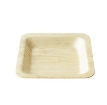 3.5in Square Bamboo Plate 24/pk