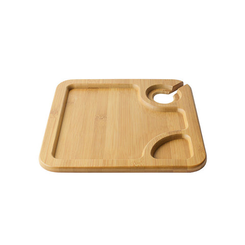 Reusable Bamboo Wine Plate 2/pk