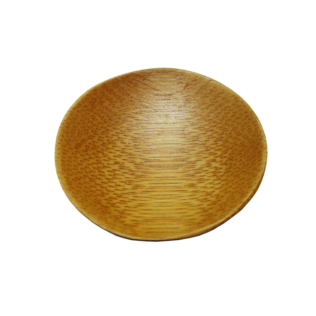 "2.4"" Mini Round Solid Bamboo Plate (Case)"