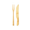 "12"" Solid Bamboo Carving Fork and Knife Set"