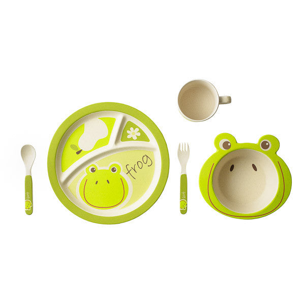 Bamboo Kids Hopper the Frog 5pc Dinnerware Set