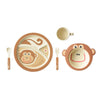 Bamboo Kids Monty the Monkey 5pc Dinnerware Set