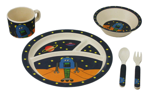 Bamboo Kids Link The Robot Dinnerware Set