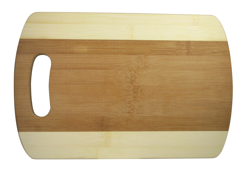 Two Tone Bamboo Cutting Board Med