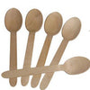 "6"" Disposable Eco-Friendly Birch Spoon 100/pk"