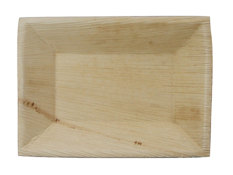 "6.75"" x 5"" Rectangle Palm Deep Plate PK25"