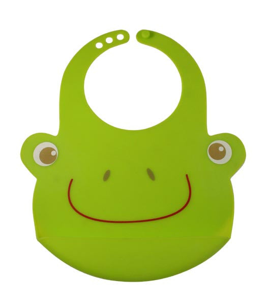 Bamboo Kids Hopper the Frog Silicone Baby Bib