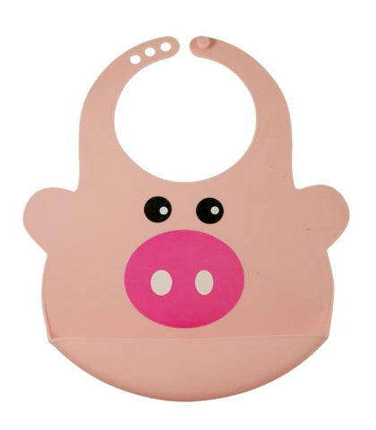 Bamboo Kids Pinky the Pig Silicone Baby Bib