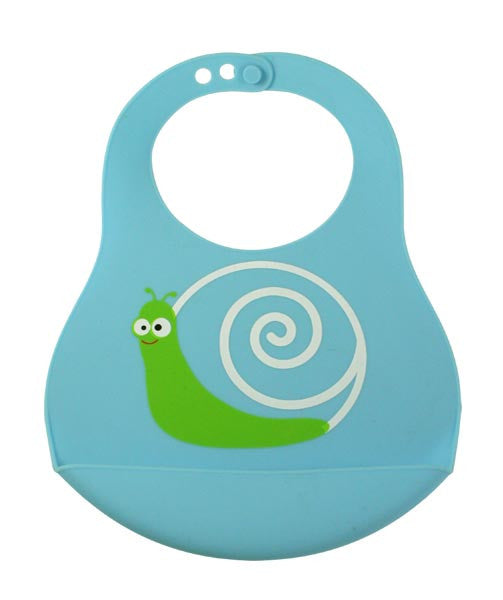 Bamboo Kids Sydney the Snail Silicone Baby Bib