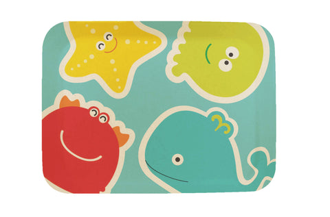 "Bamboo Kids Sea Creatures 9.5"" Tray 4 Count Set"
