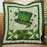St Patrick day Quilt and Hoodie