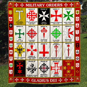 Military Orders Gladius Dei Quilt Blanket - Knights Templar