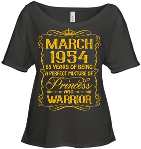 March 1954 65 Years Being A Perfect Mixture Princess T Shirts