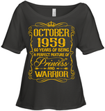October 1959 60 Years Being A Perfect Mixture Princess T Shirts