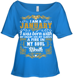 Born On I am a January Woman My Heart On My Sleeve T Shirts