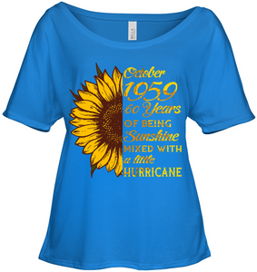 October 1959 60 Years Of Being Awesome Sunflower 2019 T Shirts