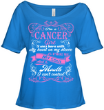 Cancer Girl Born With My Heart On My Sleeve T Shirts