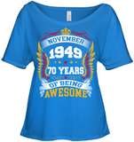 November 1949 70 Years Of Being Awesome New Design for 2019 T Shirts