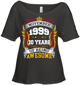November 1999 20 Years Of Being Awesome New Design for 2019 T Shirts