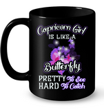 Capricorn Girl Is Like A Butterfly See Hard To Catch T Shirts