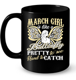 March Girl Is Like A Butterfly Pretty To See T Shirts