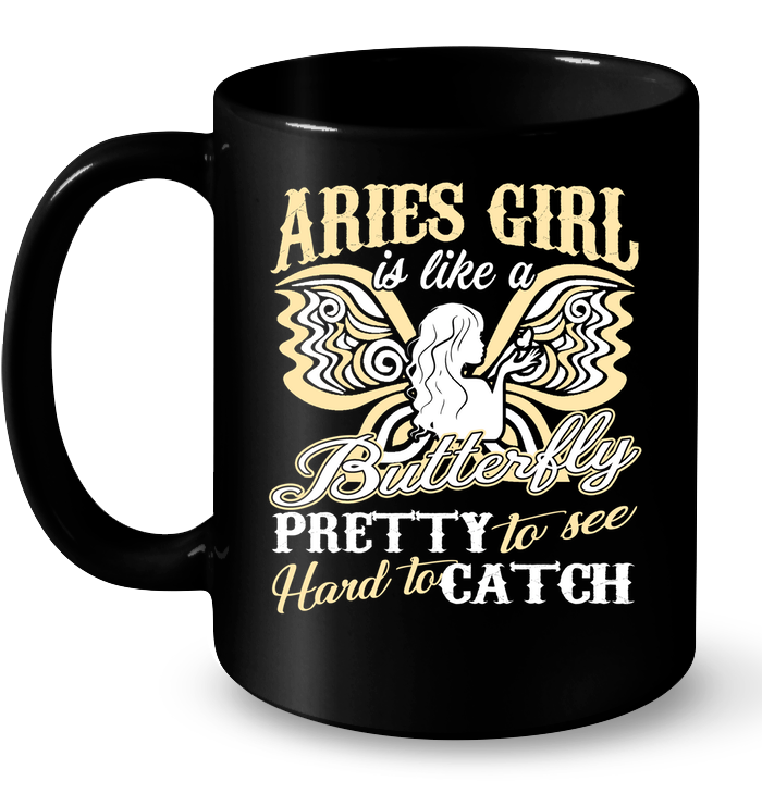 Aries Girl Is Like A Butterfly Pretty To See T Shirts