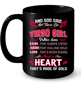 And God Said Let There Be Virgo Girl T Shirts