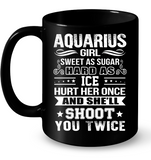 Aquarius Girl Sweet As Sugar Hard As Ice T Shirts