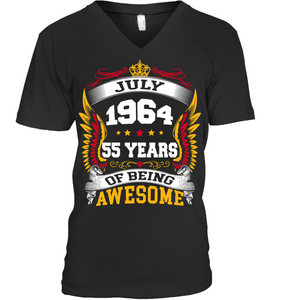 July 1964 55 Years Of Being Awesome New Design for 2019 T Shirts