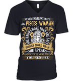 Never Underestimate The Pisces Woman She Knows T Shirts