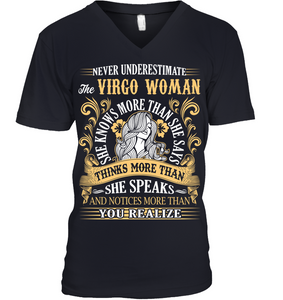 Never Underestimate The Virgo Woman She Knows T Shirts