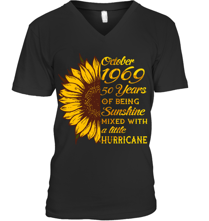 October 1969 50 Years Of Being Awesome Sunflower 2019 T Shirts