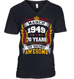 March 1949 70 Years Of Being Awesome New Design for 2019 T Shirts