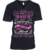 March Girl Born With My Heart On My Sleeve T Shirts