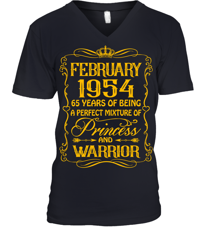 February 1954 65 Years Being A Perfect Mixture Princess T Shirts