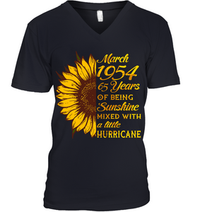 March 1954 65 Years Of Being Awesome Sunflower 2019 T Shirts
