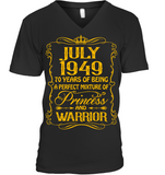 July 1949 70 Years Being A Perfect Mixture Princess T Shirts
